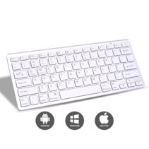 Universeel Draadloos Bluetooth Toetsenbord - Wireless Keyboard - Oplaadbaar toetsenbord - iOS, Android & Windows - Wit