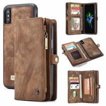 CaseMe - iPhone Xs Max hoesje - 2 in 1 Wallet Book Case - Bruin