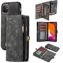 CaseMe - iPhone 11 hoesje - 2 in 1 Wallet Book Case - Zwart