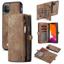 CaseMe - iPhone 11 hoesje - 2 in 1 Wallet Book Case - Bruin