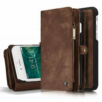 CaseMe - iPhone 7/8/SE 2020 Hoesje - 2 in 1 Wallet Book Case - Bruin