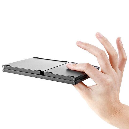 Case2go Universeel Bluetooth Toetsenbord - Opvouwbaar Bluetooth Keyboard - Grijs