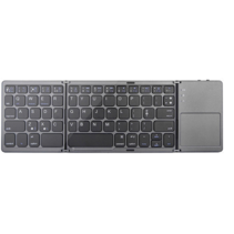 Universeel Bluetooth Toetsenbord - Opvouwbaar Bluetooth Keyboard - Grijs