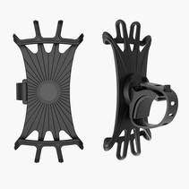 Universele Draaibare Telefoonhouder Fiets - 4 tot 6.5 inch - Zwart