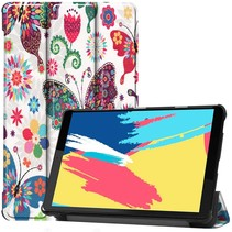 Lenovo Tab M8 FHD hoes - Tri-Fold Book Case - Vlinders