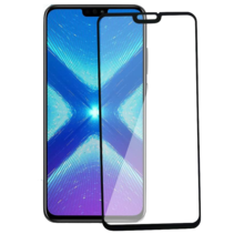 Honor 8a Screenprotector - Full Cover Screenprotector - Case-Friendly - Zwart