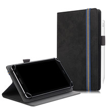 Alcatel tablet hoes - 7 inch - Universele tablet hoes - Wallet Book Case - Zwart
