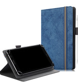 Case2go Alcatel tablet hoes - 7 inch - Universele tablet hoes - Wallet Book Case - Donker Blauw