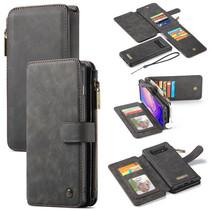 CaseMe - Samsung Galaxy S10 Plus hoesje - Wallet Book Case met Ritssluiting - Zwart