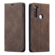 CaseMe - Xiaomi Redmi Note 8 hoesje - Wallet Book Case - Magneetsluiting - Donker Bruin