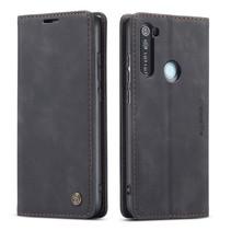 CaseMe - Xiaomi Redmi Note 8 hoesje - Wallet Book Case - Magneetsluiting - Zwart
