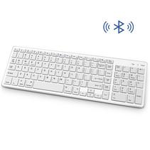 Draadloos Toetsenbord met Numpad - Oplaadbaar  Bluetooth Keyboard - Wit