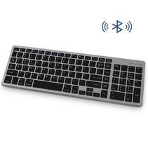 Draadloos Toetsenbord met Numpad - Oplaadbaar  Bluetooth Keyboard - Zwart