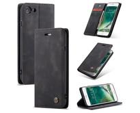 CaseMe - iPhone 7/8/SE 2020 hoesje - Wallet Book Case - Magneetsluiting - Zwart