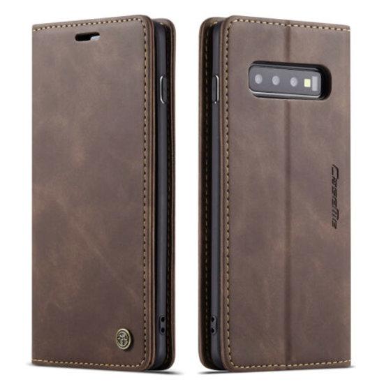 CaseMe CaseMe - Samsung Galaxy S10 5G hoesje - Wallet Book Case - Magneetsluiting - Donker Bruin