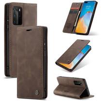 CaseMe - Huawei P40 Pro Plus hoesje - Wallet Book Case - Magneetsluiting - Donker Bruin