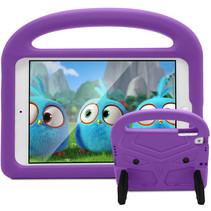 iPad 9.7 (2017/2018) hoes - Schokbestendige case met handvat - Sparrow Kids Cover - Paars