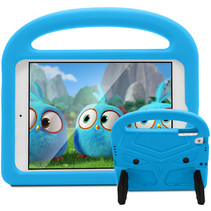 iPad Mini 4/5 hoes - Schokbestendige case met handvat - Sparrow Kids Cover - Licht Blauw