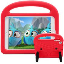 iPad Mini 4/5 hoes - Schokbestendige case met handvat - Sparrow Kids Cover - Rood