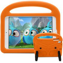 iPad Mini 4/5 hoes - Schokbestendige case met handvat - Sparrow Kids Cover - Oranje