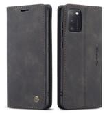 CaseMe CaseMe - Samsung Galaxy A41 hoesje - Wallet Book Case - Magneetsluiting - Zwart