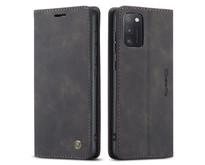 CaseMe - Samsung Galaxy A41 hoesje - Wallet Book Case - Magneetsluiting - Zwart