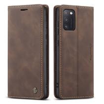CaseMe - Samsung Galaxy A41 hoesje - Wallet Book Case - Magneetsluiting - Donker Bruin