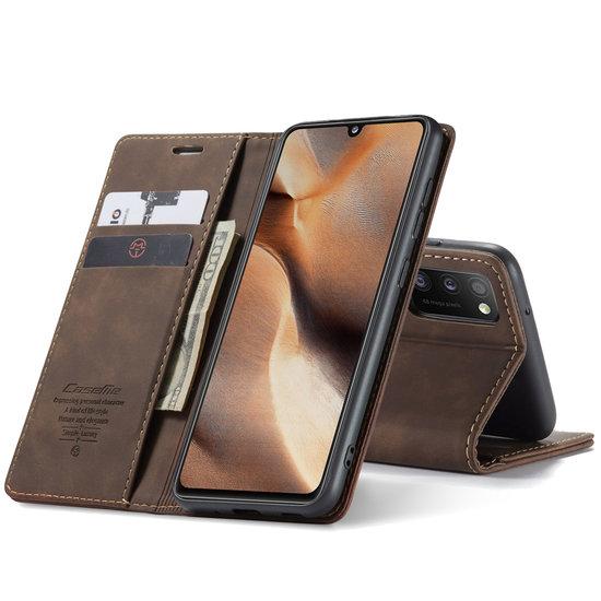 CaseMe CaseMe - Samsung Galaxy A41 hoesje - Wallet Book Case - Magneetsluiting - Donker Bruin