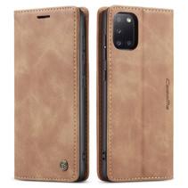 CaseMe - Samsung Galaxy A31 hoesje - Wallet Book Case - Magneetsluiting - Bruin