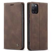 CaseMe - Samsung Galaxy A31 hoesje - Wallet Book Case - Magneetsluiting - Donker Bruin