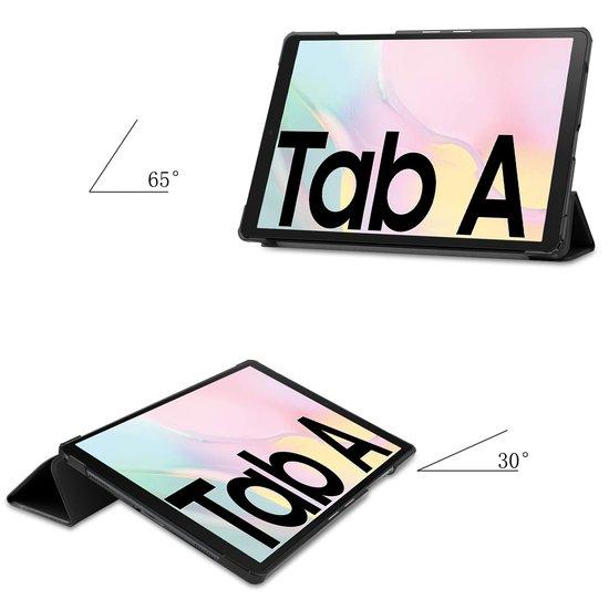 Case2go Case2go - Hoes voor de Samsung Galaxy Tab A7 (2020) - Tri-Fold Book Case - Zwart