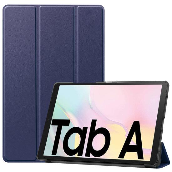 Case2go Samsung Galaxy Tab A7 (2020) hoes - Tri-Fold Book Case - Donker Blauw