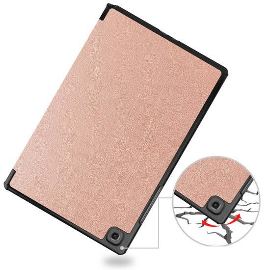 Case2go Samsung Galaxy Tab A7 (2020) hoes - Tri-Fold Book Case - Rosé Goud