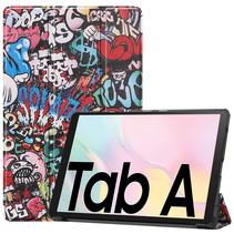Samsung Galaxy Tab A7 (2020) hoes - Tri-Fold Book Case - Graffiti