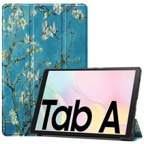 Samsung Galaxy Tab A7 (2020) hoes - Tri-Fold Book Case - Witte Bloesem