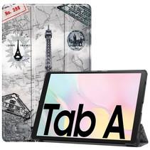 Samsung Galaxy Tab A7 (2020) hoes - Tri-Fold Book Case - Eiffeltoren