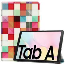 Samsung Galaxy Tab A7 (2020) hoes - Tri-Fold Book Case - Blocks