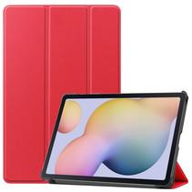 Samsung Galaxy Tab S7 (2020) hoes - Tri-Fold Book Case - Rood