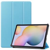 Samsung Galaxy Tab S7 (2020) hoes - Tri-Fold Book Case - Licht Blauw