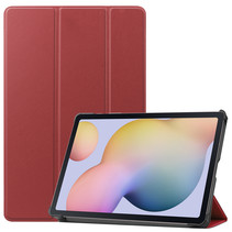 Samsung Galaxy Tab S7 (2020) hoes - Tri-Fold Book Case - Donker Rood