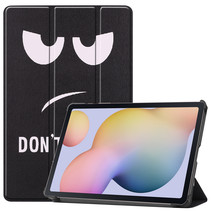 Samsung Galaxy Tab S7 (2020) hoes - Tri-Fold Book Case - Don't Touch Me