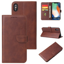 iPhone Xs Max hoesje - Wallet Book Case - Magnetische sluiting - Ruimte voor 3 (bank)pasjes - Donker Bruin
