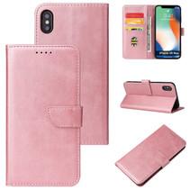 Case2go - Hoesje geschikt voor iPhone Xs Max - Wallet Book Case -  Ruimte voor 3 pasjes - Rosé Goud