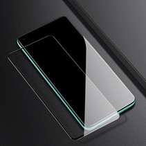 Oppo A72 Screenprotector - Full Cover Screenprotector - Case-Friendly - Zwart