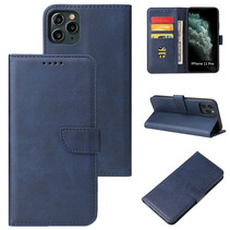 Case2go - Hoesje geschikt voor iPhone 11 Pro Max - Wallet Book Case -  Ruimte voor 3 pasjes - Donker Blauw
