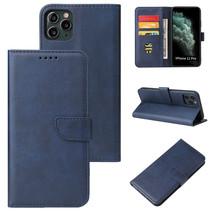 iPhone 11 Pro Max hoesje - Wallet Book Case - Magnetische sluiting - Ruimte voor 3 (bank)pasjes - Donker Blauw