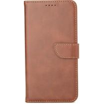 Case2go - Hoesje geschikt voor Samsung Galaxy M01 - Wallet Book Case -  Ruimte voor 3 pasjes - Donker Bruin