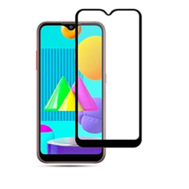 Samsung Galaxy M01 - Full Cover Screenprotector - Case-Friendly - Zwart