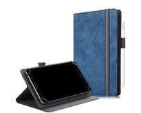 Huawei MatePad T8 hoes - Universele tablet hoes - 8 inch - Wallet Book Case - Donker Blauw