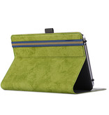 Case2go Huawei MatePad T8 hoes - Universele tablet hoes - 8 inch - Wallet Book Case - Groen